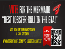Vote now for The Mermaid! Best Lobster Roll in the GTA!