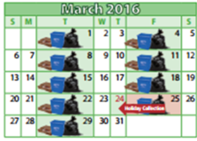 Good Friday  Holiday Waste Schedule - March 25th