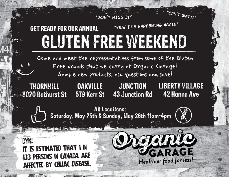 Gluten Free Event at Organic Garage